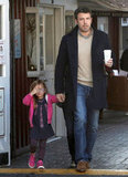 Ben grabbed coffee with Seraphina in Brentwood on the same day that Jen Garner was spotted getting coffee with son Samuel in New Orleans.