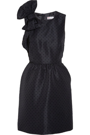 Red Valentino's Polka-dot velvet-jacquard dress ($298, originally $695) is fitting for a cocktail chic holiday party.