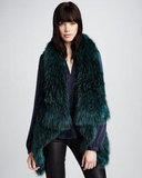 Wrap up in Theory's fur vest ($789, originally $1,350), and because of its colorful texture, you can get away with a lot more in terms of how you style it. Make it edgy with leather pants or pair something softer and romantic underneath.