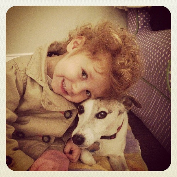 PopSugar co-founders Lisa and Brian Sugar shared this Instagram snap of her daughter Juliet and their Jack Russell Terrier, Lucy, that could melt your heart.