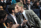 Neil Patrick Harris kissed David Burtka in LA in January.