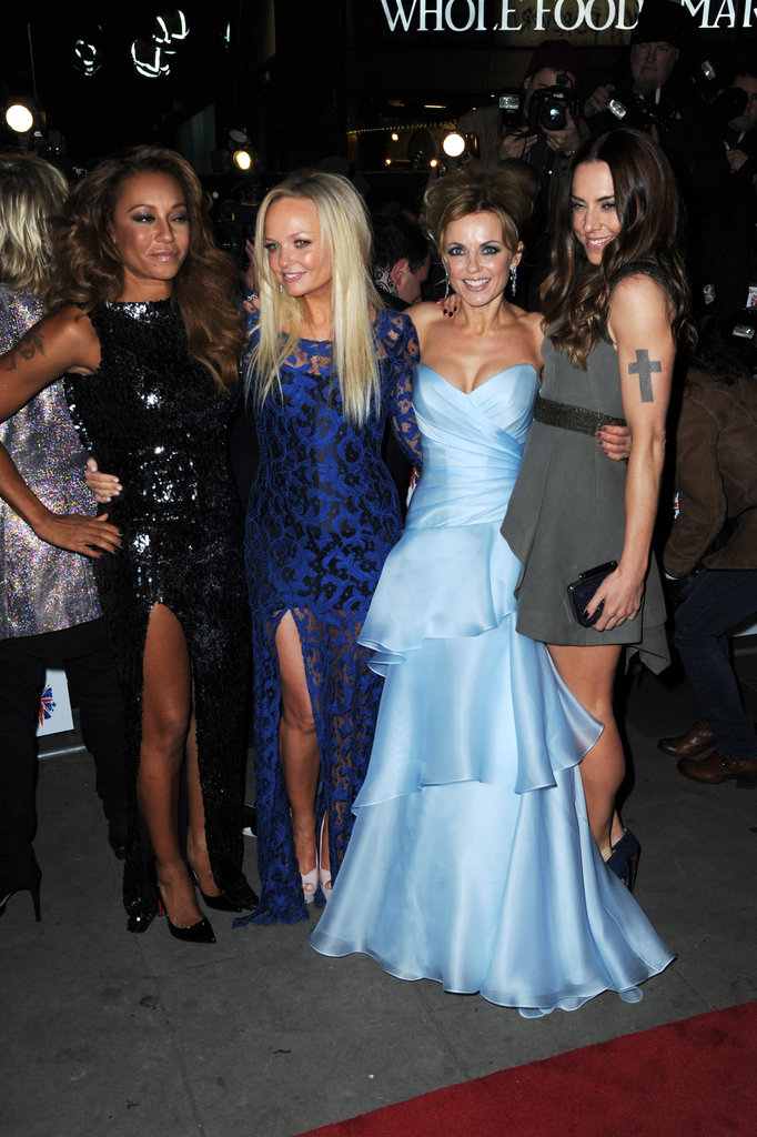Melanie Brown, Gerri Halliwell, Emma Bunton, and Melanie Chisholm posed for photos.