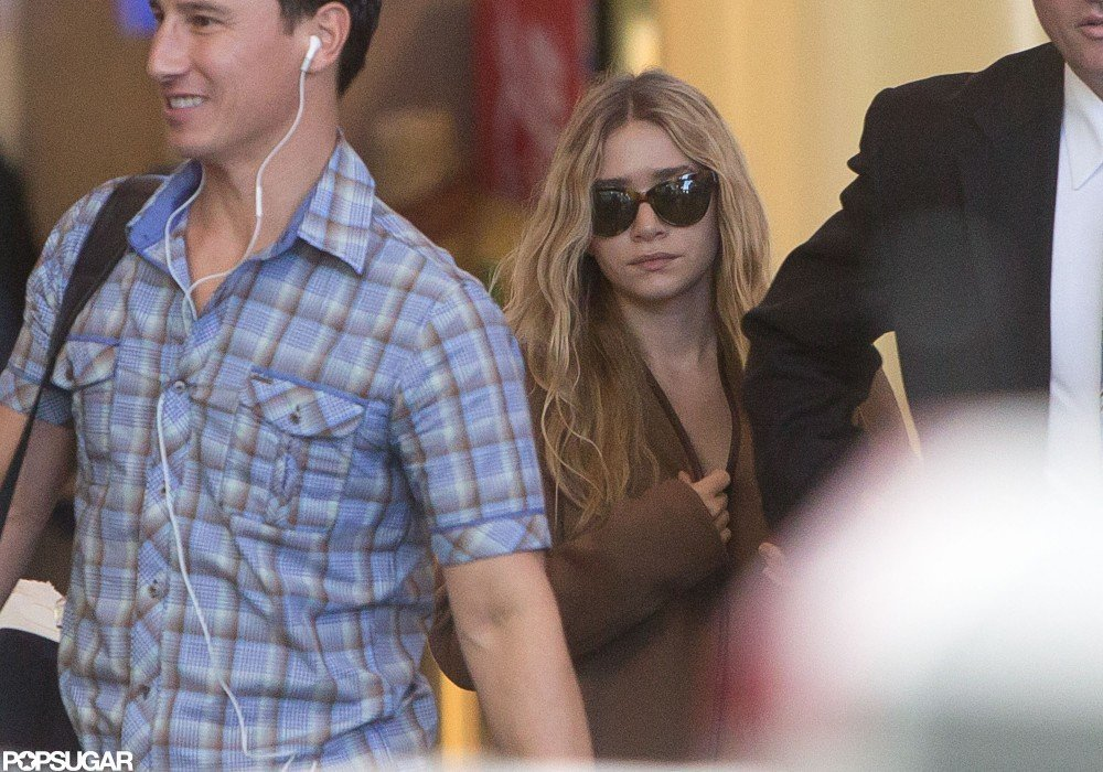 Ashley Olsen landed in LAX.