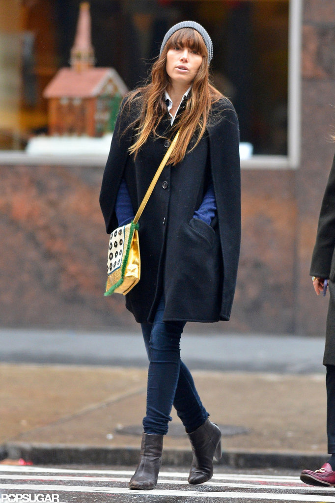 Jessica Biel went for a solo stroll in NYC.