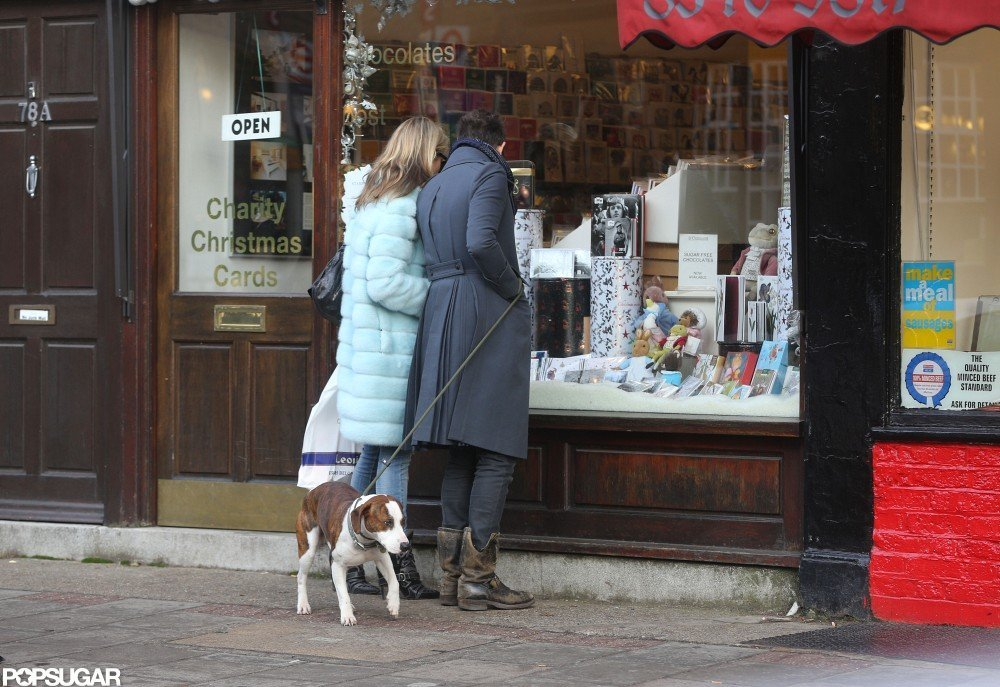 Kate Moss and Jamie Hince went window-shopping in London together.