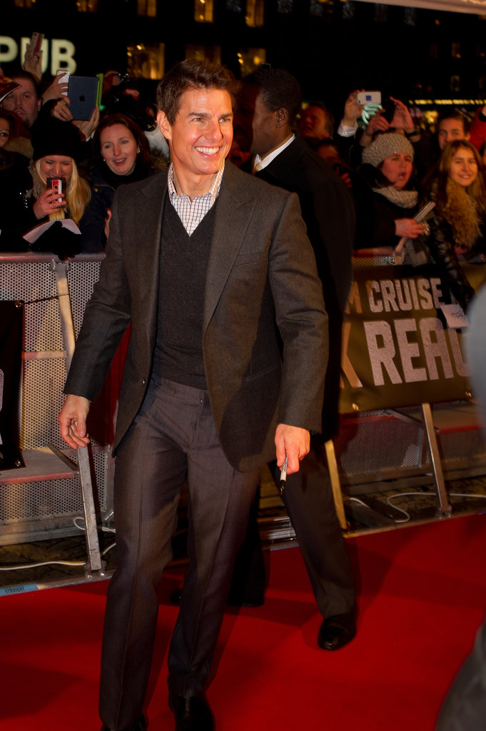 Tom Cruise headed to the screening.