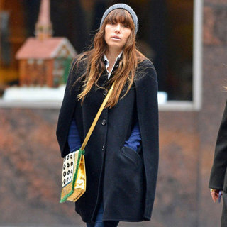 Jessica Biel Wears a Cape in NYC