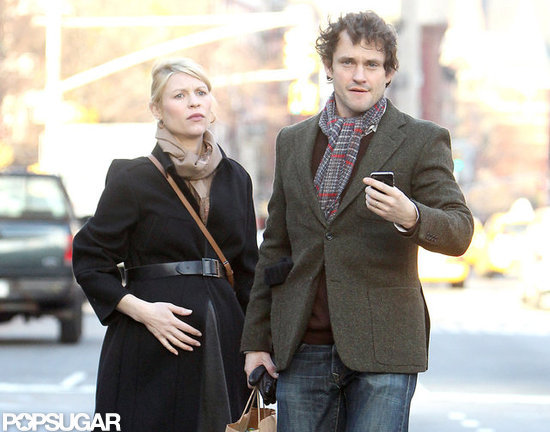Hugh Dancy led the way for his pregnant wife, Claire Danes.