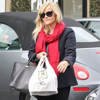 Reese Witherspoon Wearing Red and Black in LA | Pictures