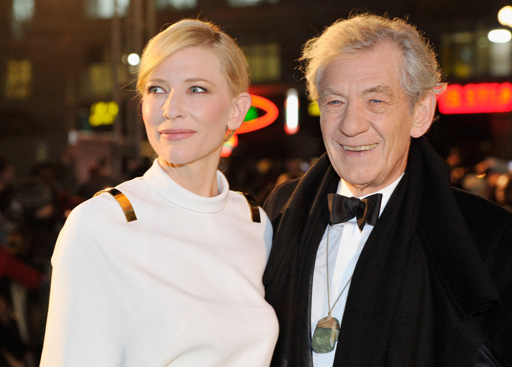 Cate Blanchett posed with Ian McKellen.