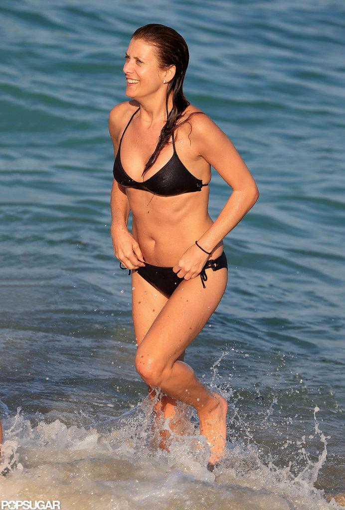Kate Walsh took a dip in the ocean in Miami.