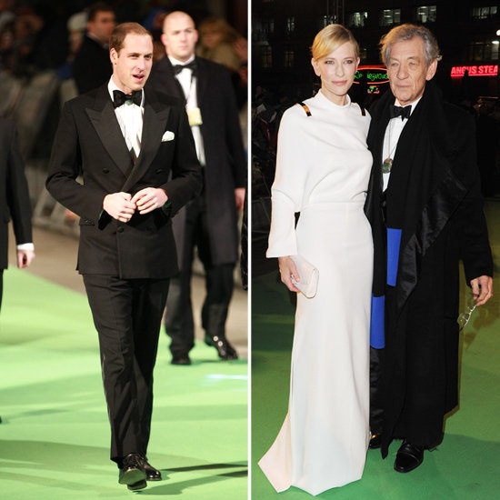 Prince William and Celebrities at The Hobbit London Premiere