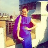 Hilary Rhoda worked the camera in a Tom Ford dress. Source: Instagram user hilaryhrhoda