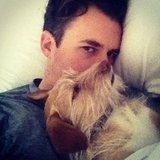 Brad Goreski snuggled with his best pal. Source: Twitter user mrbradgoreski