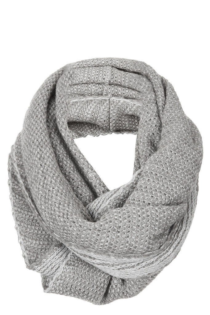 If you're not the statement-scarf type, this Topshop 2 Tone Zigzag Snood ($32) is simple enough, while providing a little textural intrigue.
