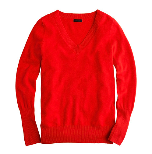 Nothing oozes luxury more than cashmere. This J.Crew Collection red v-neck sweater ($100, originally $188) would be a timeless addition to anyone's closet.