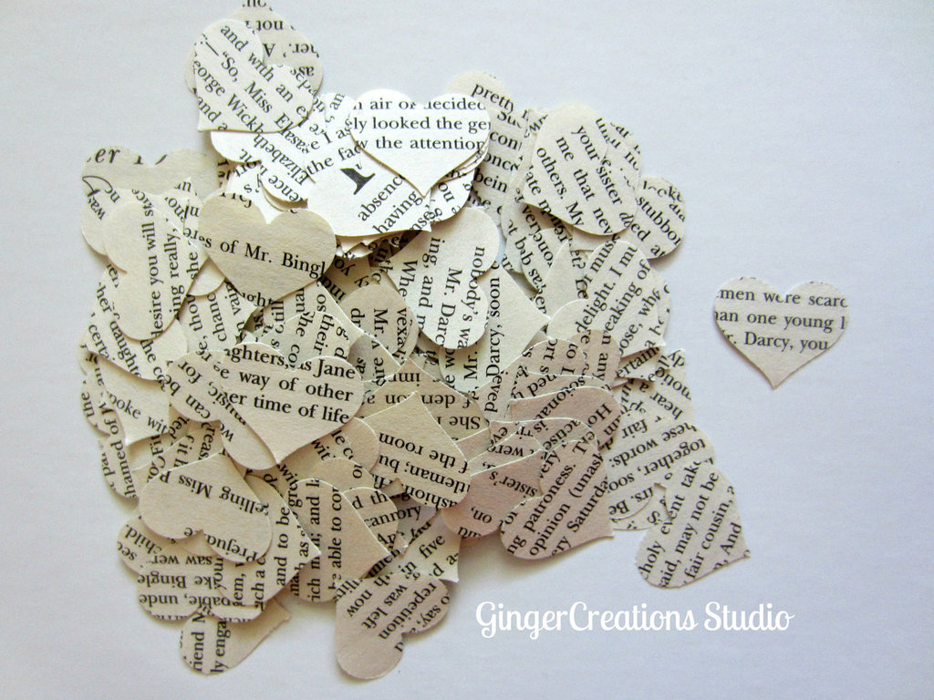 Ideal for a wedding — or any celebration of love — this paper hearts confetti ($7 for 400 pieces) is made from the pages of Pride and Prejudice.