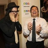 Sean Lennon and Jimmy Fallon had mixed emotions (it's like the laughing/crying theater masks!) backstage at the 12-12-12 Concert for Sandy Relief. Source: Instagram user rollingstone