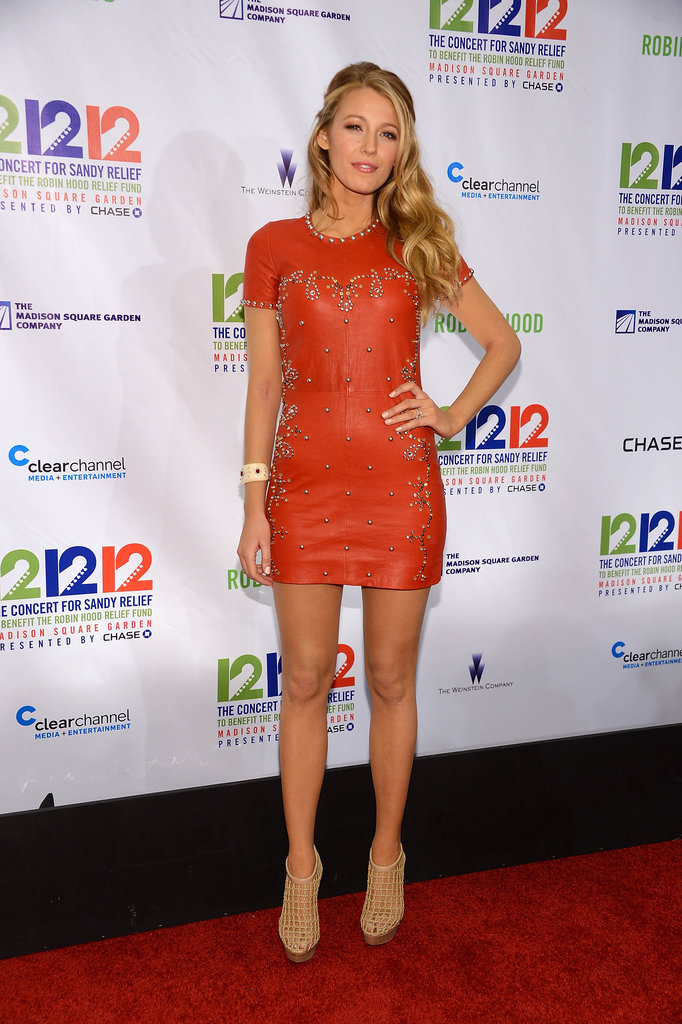Blake Lively Rocks a Mini to the 12/12/12 Show