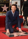Hugh Jackman accepted a star on the Walk of Fame.