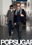Anne Hathaway and Adam Shulman landed in LA.