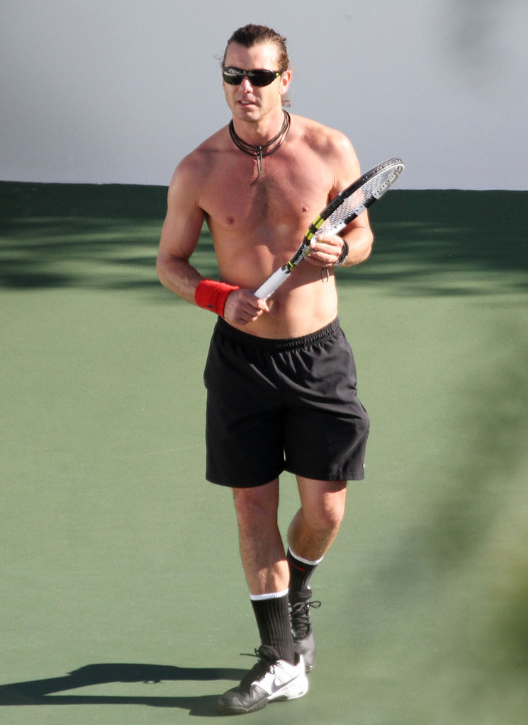 Gavin Rossdale played a shirtless game of tennis in LA back in January.