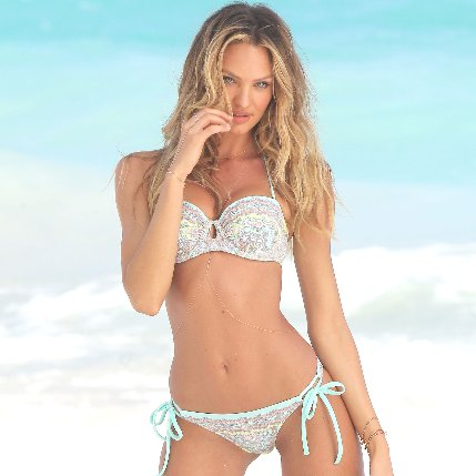 Candice Swanepoel in a Bikini For Victoria's Secret