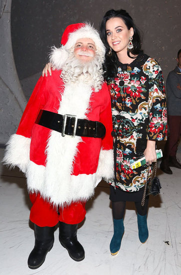 Katy Perry posed with Santa at A Christmas Story: The Musical.