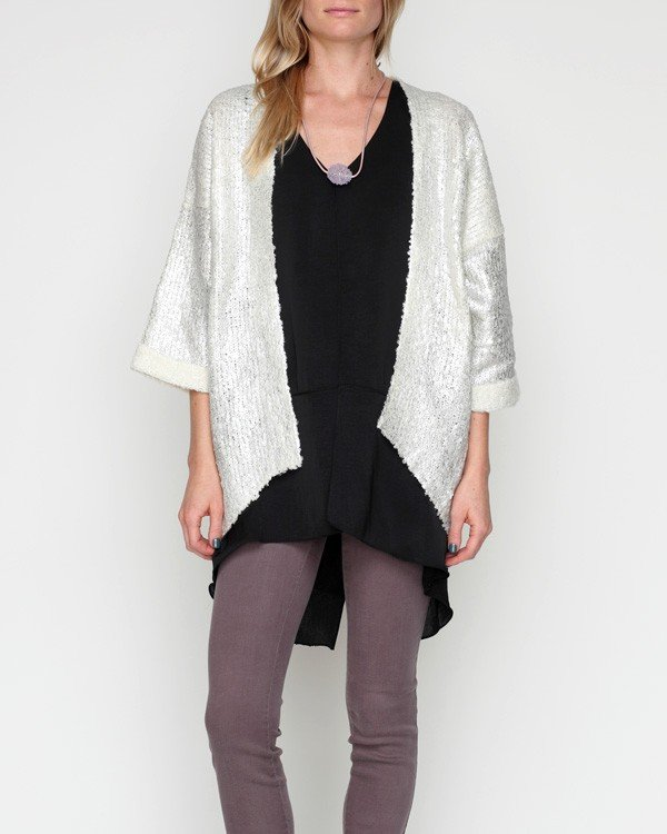 A great metallic cardigan like this Queen Jane Jumper ($48, originally $88) will lend a touch of Holiday shine to even your jeans and t-shirts.