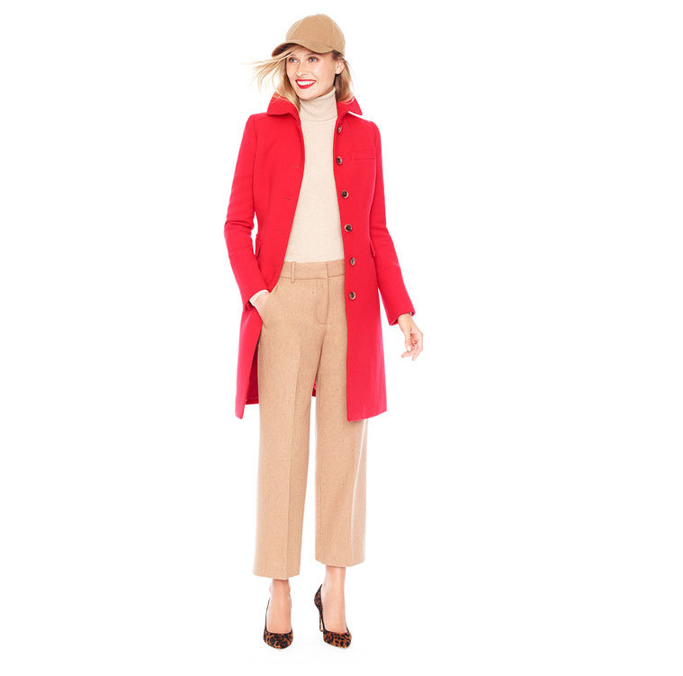 There's nothing more classic than a little red and camel, and a red coat like this will be a standout with practically anything you pair it with.