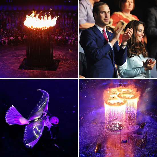 Spirits were high as the opening ceremony kicked off the London Games.
