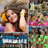 Olympic cheerleaders rooted for wins and showed some skin.