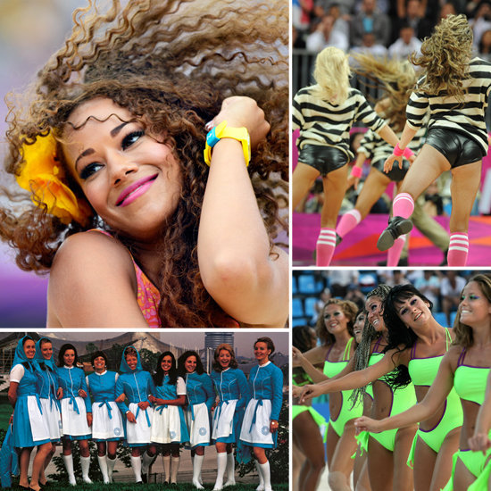 Olympic cheerleaders rooted for wins and showed some skin