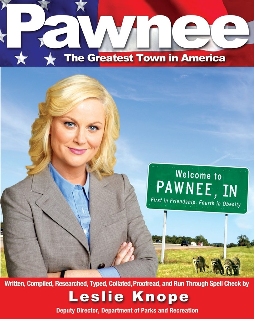 The Parks and Recreation fan will laugh out loud while reading Pawnee: The Greatest Town in America ($8).