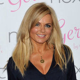 Long, loose and very blonde for Geri in 2011. We love this hair colour for her, and are her eyes popping or what?!