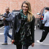 Jessica Alba Wearing Studded Leather Jacket