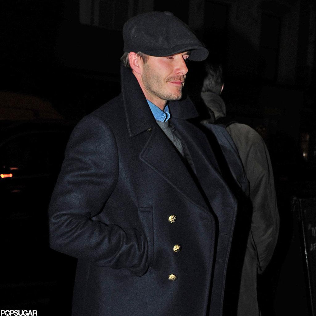 David Beckham went to a London pub.