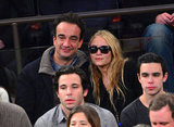 Mary-Kate Olsen watched the New York Knicks play the LA Lakers with boyfriend Olivier Sarkozy.