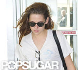 Kristen Stewart made her way through JFK airport earlier today.