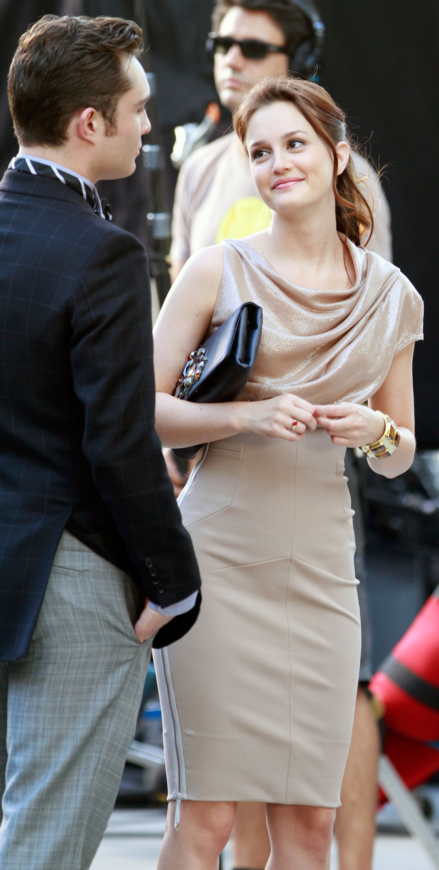 Leighton Meester and Ed Westwick shared a well-dressed scene in August 2010.