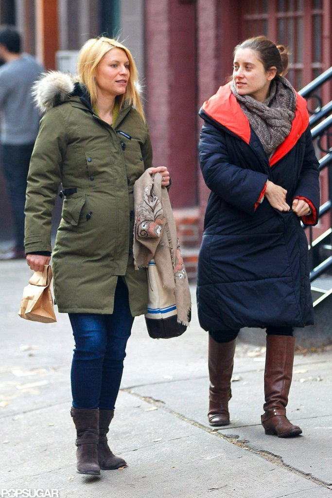 Pregnant Claire Danes stepped out with a friend in NYC.