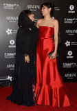 Freida Pinto posed with Nayla Al Khaja on the red carpet.