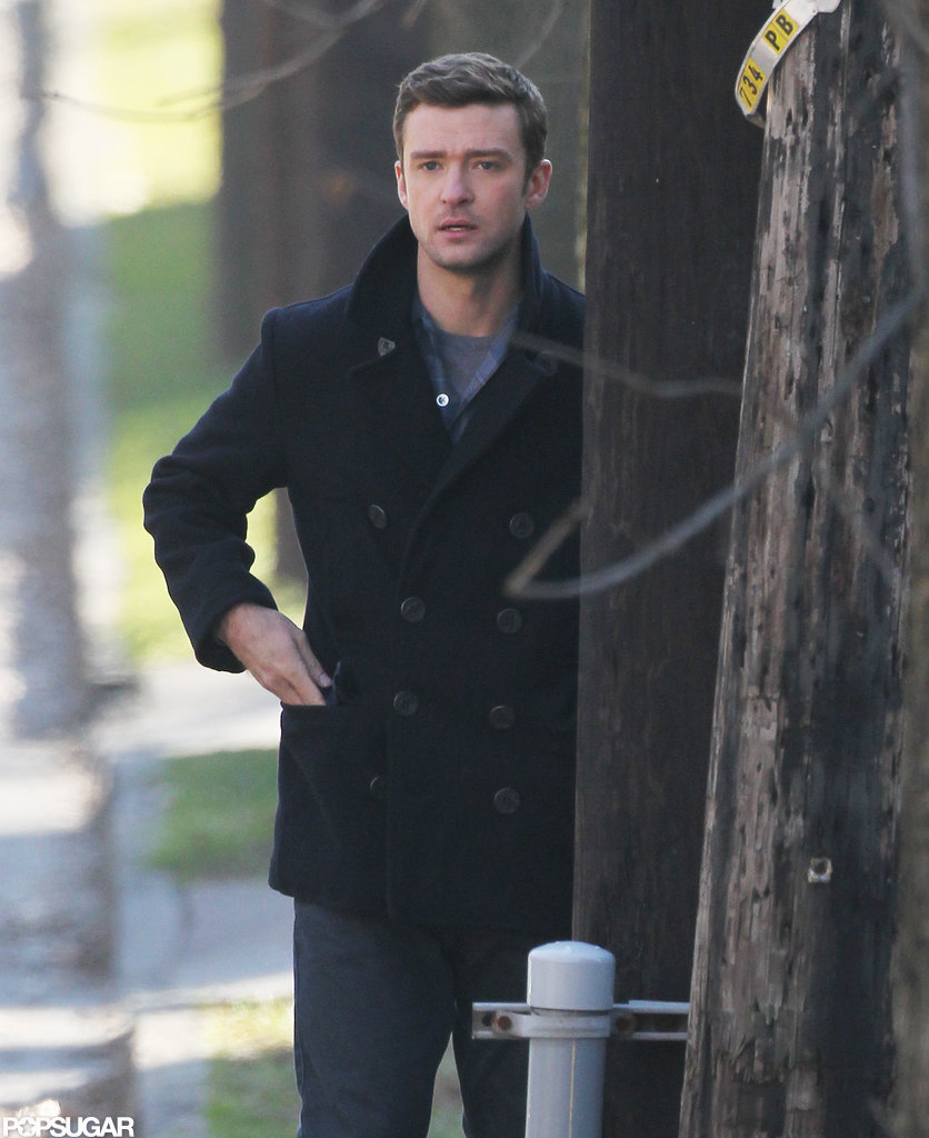 Justin Timberlake hung out between scenes.