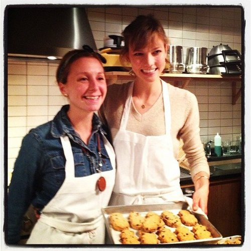 We baked some holiday cookies with Karlie Kloss for the FEED Project.