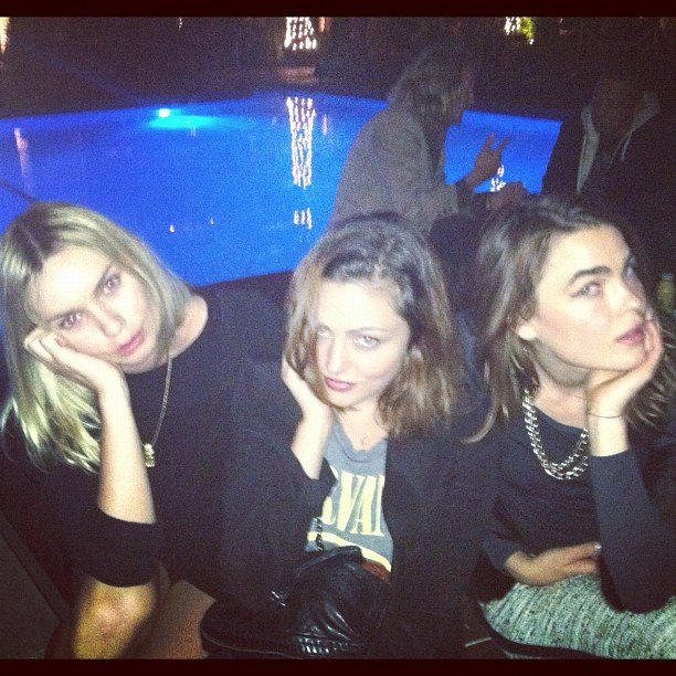 Phoebe Tonkin struck a pose with model Stef Bambi and blogger Alexandra Spencer. Source: Instagram user phoebejtonkin