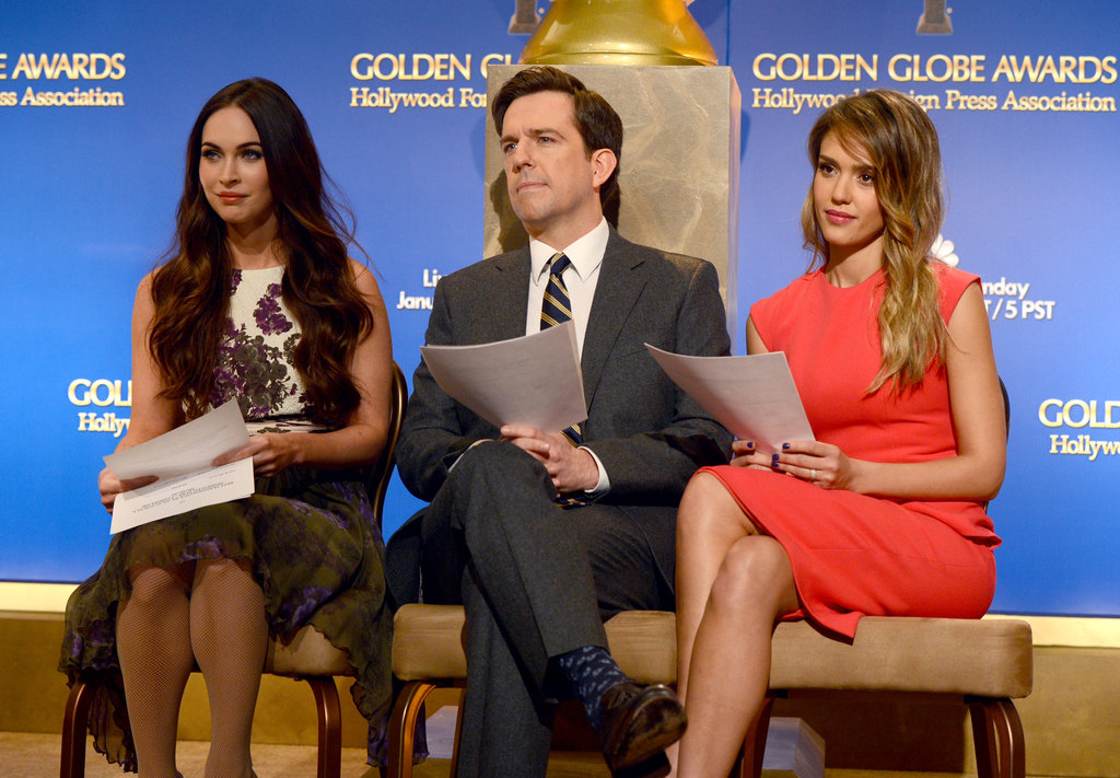 Megan Fox, Ed Helms (lucky guy!) and Jessica Alba announced some of the 2013 Golden Globe nominees at an event on December 12.
