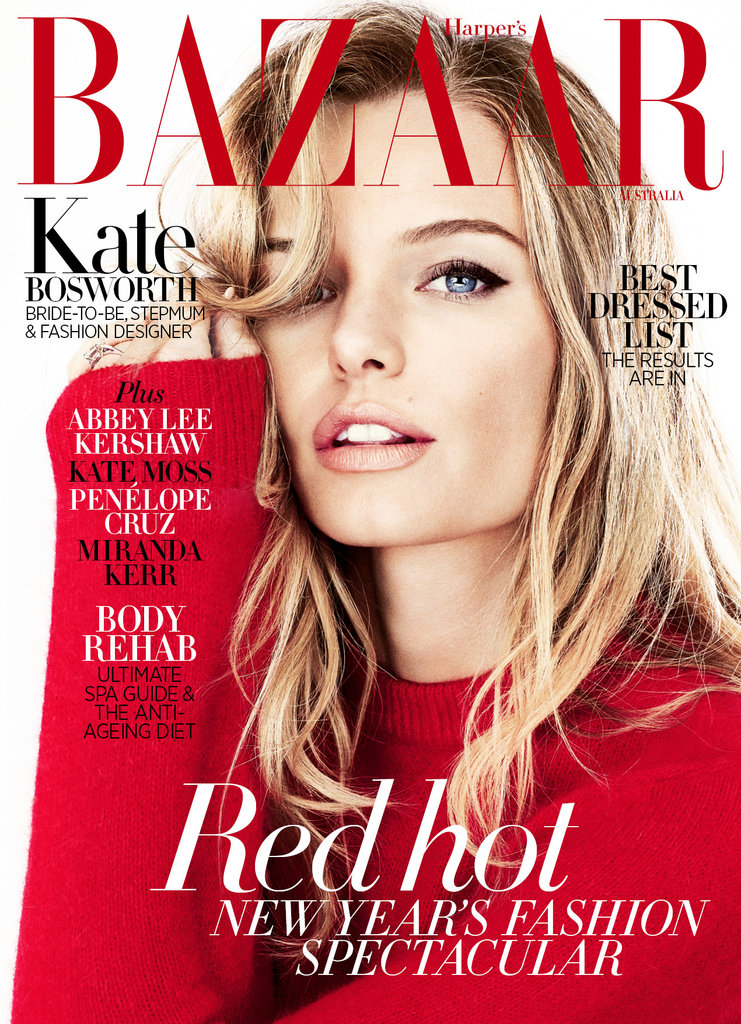Kate Bosworth's Pink Nude Lipstick on the Cover of Harpers