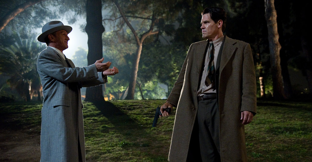 Sean Penn and Josh Brolin in Gangster Squad.