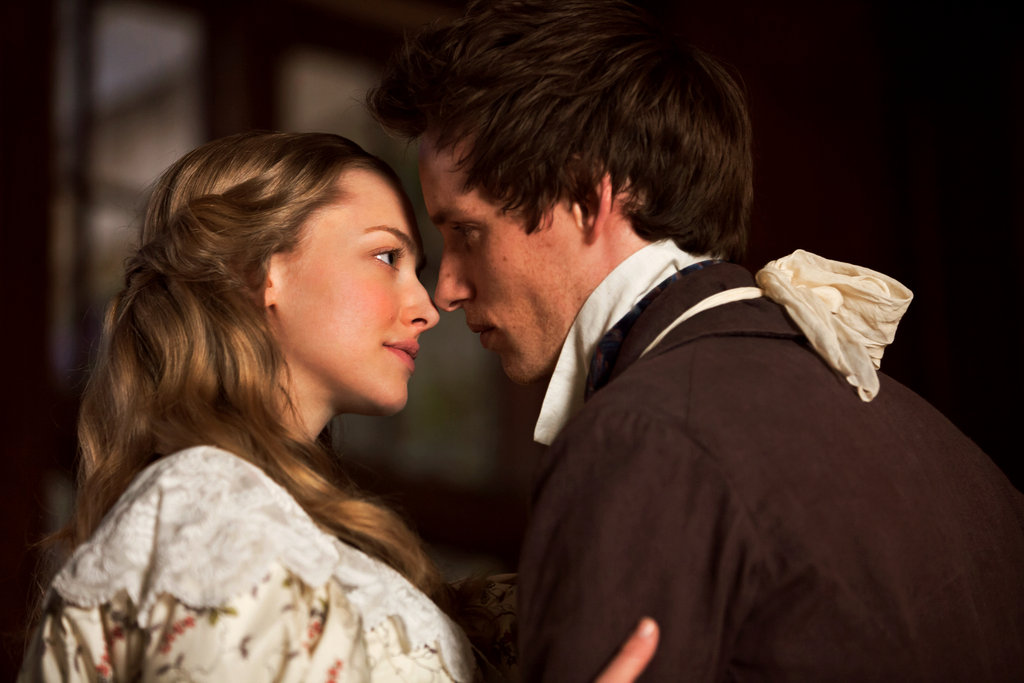 Amanda Seyfried and Eddie Redmayne in Les Misérables.