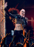 Miley Cyrus Flashes Her Abs in Leather and Studs For VH1 Divas